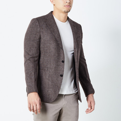 Zach Fully Lined Tailored Jacket // Brown (Euro: 46)