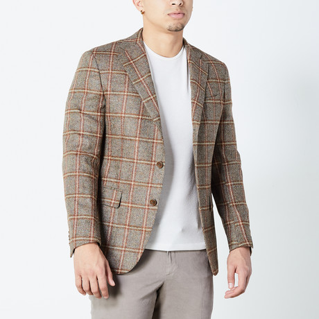 Mohammed Fully Lined Tailored Jacket // Brown (Euro: 46)