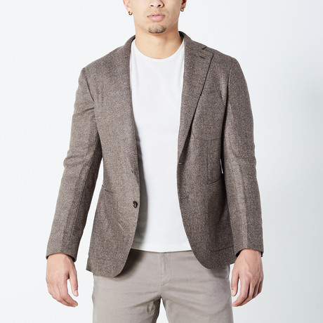 Fez Half Lined Tailored Jacket // Taupe (Euro: 46)