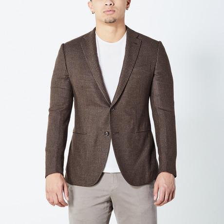 Derek Fully Lined Tailored Jacket // Brown (Euro: 46)