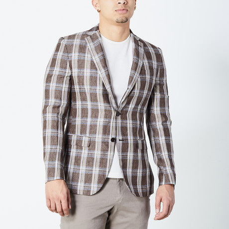 Dyson Half Lined Tailored Jacket // Brown + Tan (Euro: 46)