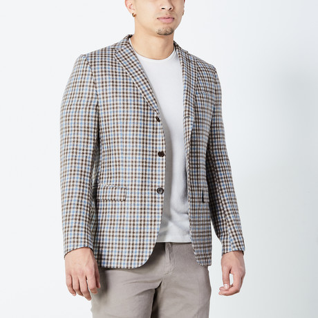 Carmelo Fully Lined Tailored Jacket // Brown (Euro: 46)