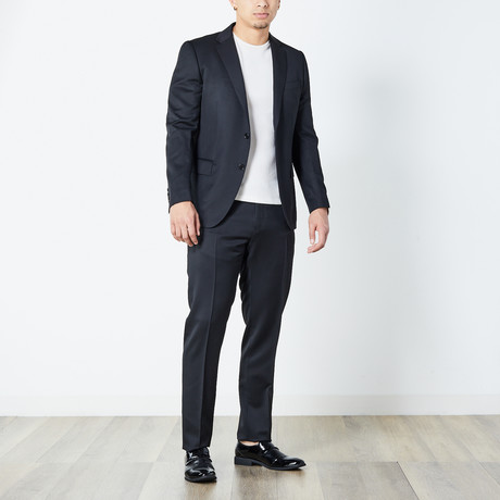 Hossam Fully Lined Suit // Black (Euro: 46)