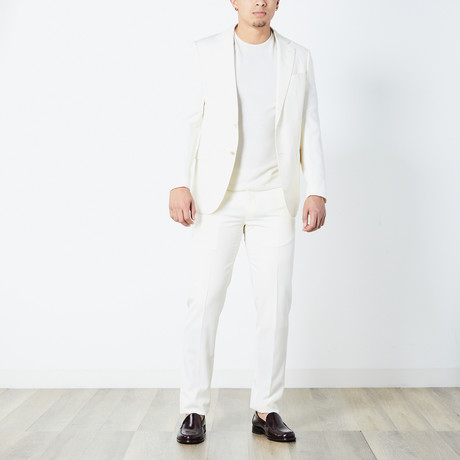Elias Fully Lined Suit // Ivory (Euro: 46)