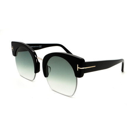 Tom Ford // Women's Savannah FT055201W Sunglasses // Shiny Black + Gray