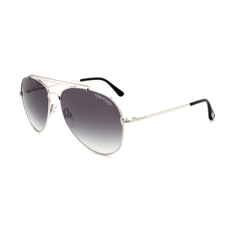 Tom Ford // Unisex FT04975818B Sunglasses // Silver + Gray