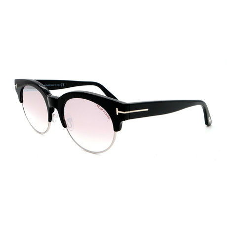 Unisex FT05985201Z Sunglasses // Shiny Black + Pink Mirror