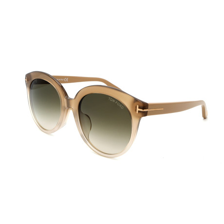 Women's FT04295459B Sunglasses // Brown + Smoke Gradient