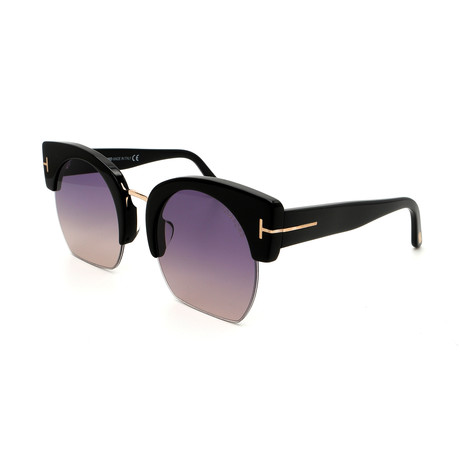Tom Ford // Women's Savannah FT05525501B Sunglasses // Shiny Black + Gray