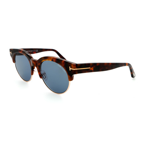 Unisex FT05985255V Sunglasses // Dark Havana + Gray