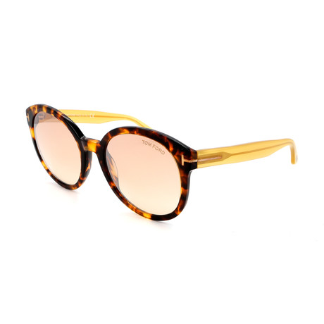 Tom Ford // Women's FT05035552Z Sunglasses // Havana + Yellow