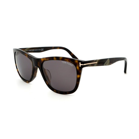 Men's FT05005452N Sunglasses // Dark Havana + Gray