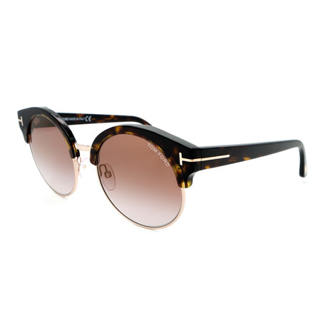 Unisex Sound FT06085452G Sunglasses // Dark Havana + Brown