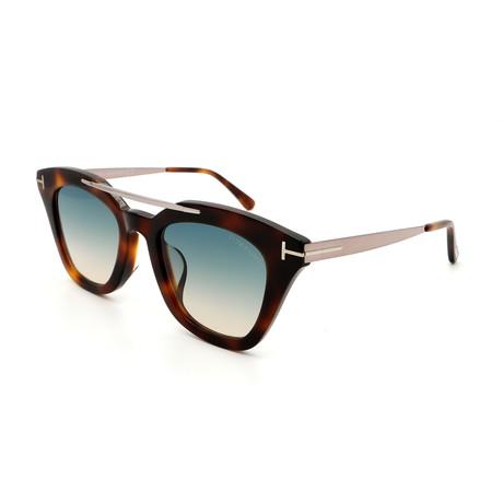 Unisex FT05754953P Sunglasses // Havana + Silver