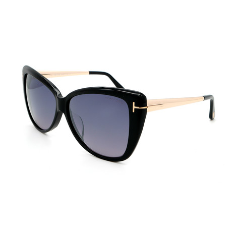 Women's Cat Eye FT05125901C Sunglasses // Shiny Black + Gold