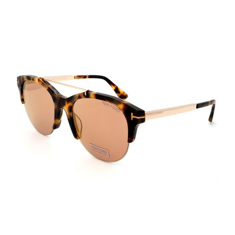 Women's FT05175556Z Sunglasses // Havana + Brown