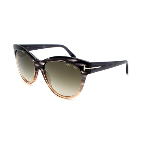 Tom Ford // Women's FT04305620P Sunglasses // Dark Havana + Smoke Gradient