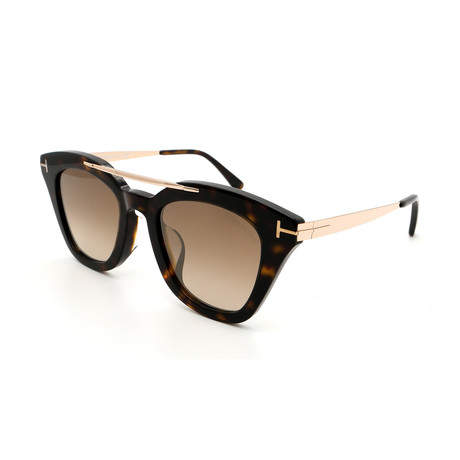 Unisex FT05754952G Sunglasses // Havana + Gold