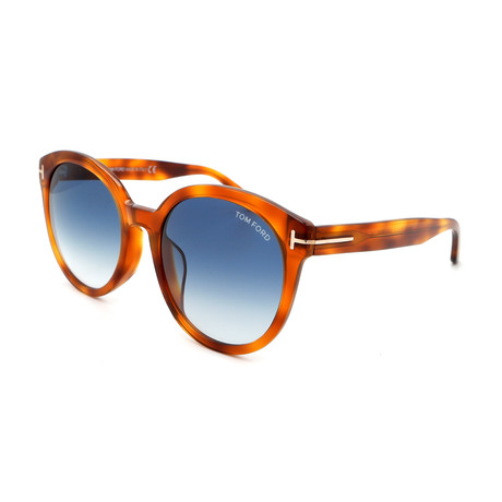 Women's FT05035553W Sunglasses // Blonde Havana + Blue