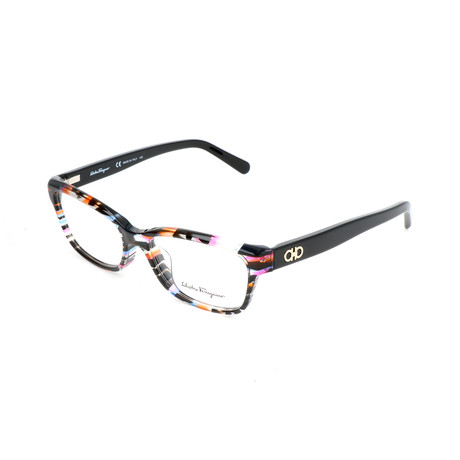 Salvatore Ferragamo // Women's Hana Optical Frames // Geometric Fuchsia Azure
