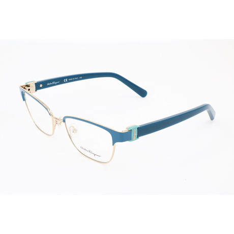 Salvatore Ferragamo // Women's Elizabeth Optical Frames // Dark Turquoise