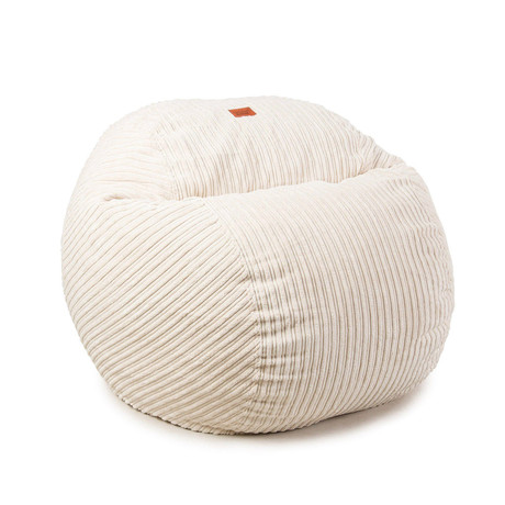 Convertible Bean Bag Chair // Terry Corduroy // Ecru (Full)