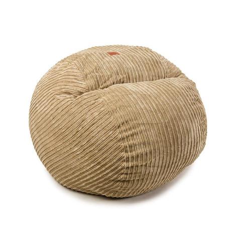 Convertible Bean Bag Chair // Terry Corduroy // Tan // Full