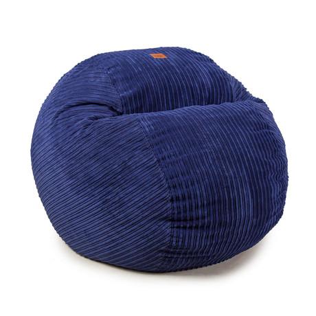 Convertible Bean Bag Chair // Terry Corduroy // Navy Blue (Full)