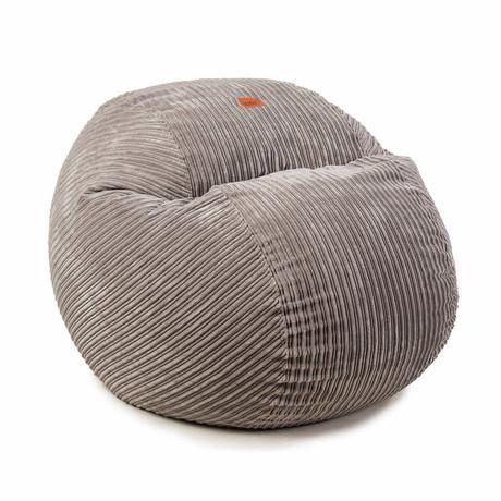 Convertible Bean Bag Chair // Terry Corduroy // Gray (Full)
