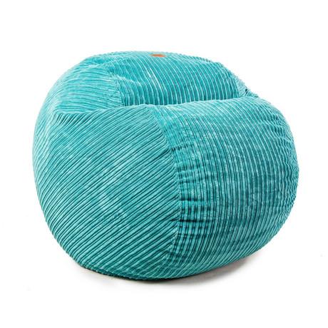 Convertible Bean Bag Chair // Terry Corduroy // Sky (Full)