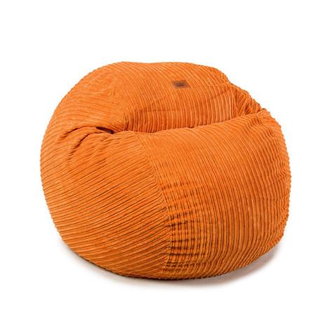 Convertible Bean Bag Chair // Terry Corduroy // Orange // Full