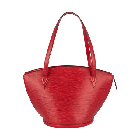 Louis Vuitton // Cowhide Leather Tote Bag // Red // Pre-Owned