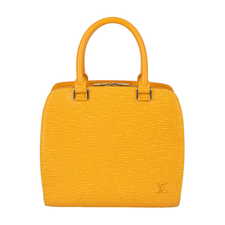 Louis Vuitton // Pont Neuf Epi Leather PM Handbag // Yellow // Pre-Owned