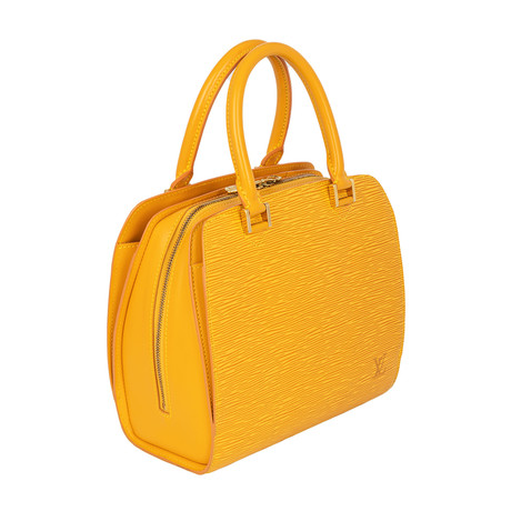 Louis Vuitton // Pont Neuf Epi Leather PM Handbag // Yellow // Pre-Owned