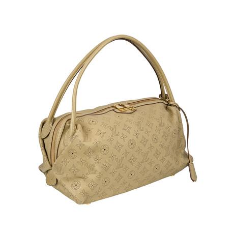 Louis Vuitton // Galatea Mahina Leather MM Handbag // Beige // Pre-Owned