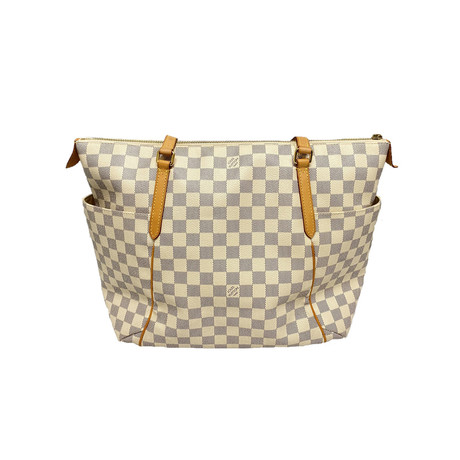 Louis Vuitton // Damier Totally PM Tote Shoulder Bag // White // Pre-Owned