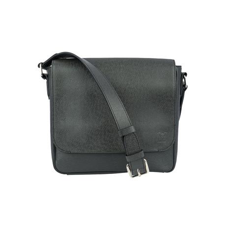 Louis Vuitton // Ardoise Taiga Leather Roman PM Messenger Bag // Black // Pre-Owned