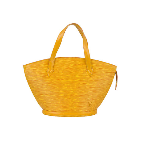 Louis Vuitton // Saint Jacques Short Strap Small Cowhide Leather PM Shoulder Bag // Yellow // Pre-Owned