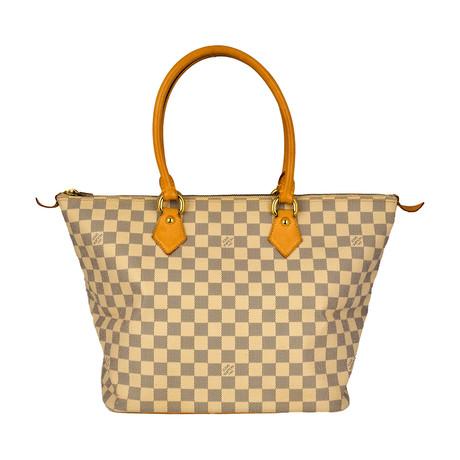 Louis Vuitton // Damier Saleya MM Tote Bag // White // Pre-Owned