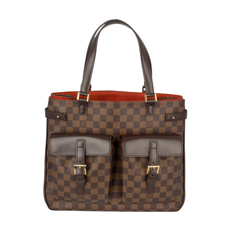 Louis Vuitton // Damier Canvas Uzes Tote Bag // Brown // Pre-Owned