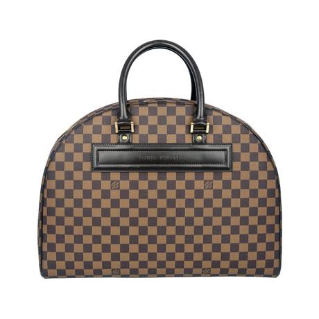 Louis Vuitton // Nolita Damier Ebene Coated Canvas 24 Heures Handbag // Brown // Pre-Owned