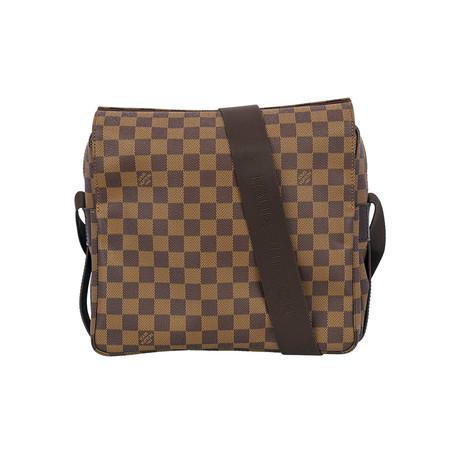 Louis Vuitton // Damier Ebene Naviglio Shoulder Messenger Bag V1 // Brown // Pre-Owned