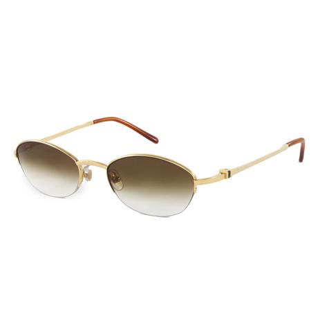 Unisex Sapphire Sunglasses // Pale Gold
