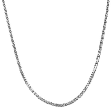 "Solid Sterling Silver Franco Chain Necklace // 3mm (26"")"