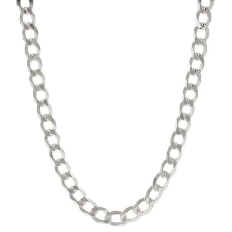 "Solid Sterling Silver Cuban Link Chain Necklace // 5mm (20"")"