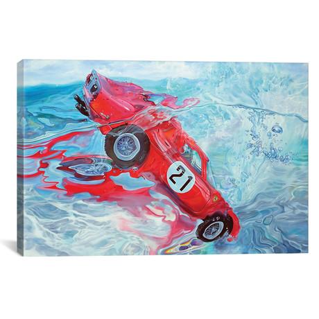 "Ferrari No. 21 // Marcello Petisci (18""W x 12""H x 0.75""D)"
