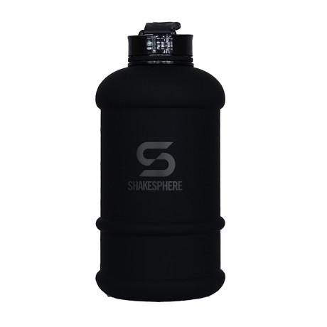 ShakeSphere Hydration Jug // 1.3 Liter // Black + Black Logo
