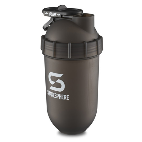 ShakeSphere Tumbler // 700mL // Frosted Black + White Logo
