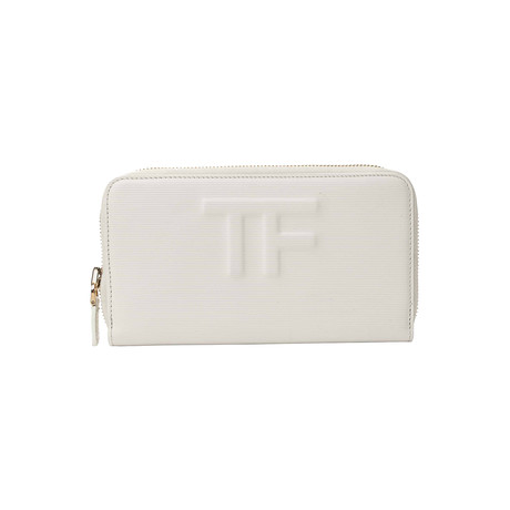 Women's Leather Wallet // White