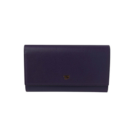 Women's Leather Large Wallet // Purple